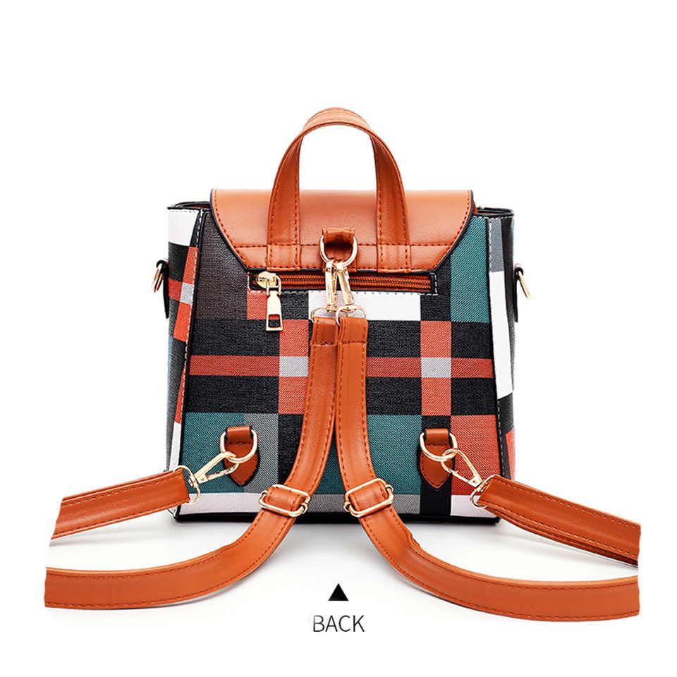 New Womens Checkered Print Crossbody Shoulder Messenger  Ladies Clutch Handbag