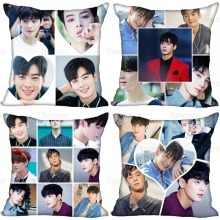 Best Sell Cha EunWoo Kpop Pillow Case For Home Decorative Pillows Cover Invisible Zippered Throw PillowCases 40X40,45X45cm