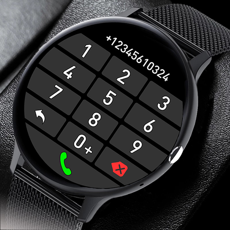Смарт-часы для мужчин и женщин, фитнес-браслет с поддержкой Bluetooth, с сенсорным экраном 1