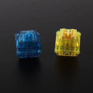 Image 4 - Gateron чернила v2 переключатели прозрачный дымчатый корпус синий; Желтый; Красный; Черный бесшумный Черный Механическая клавиатура настраиваемый переключатель 5pin