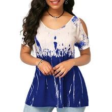 2020 Women Summer V Neck Short Sleeve T Shirt Casual Streetwear Loose Tee Shirt Sexy Print T Shirts Female Plus Size Tops 3XL
