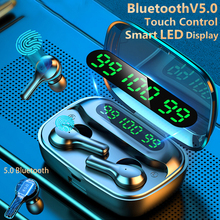 Upgrade Bluetooth 5.0 Earphone 9G HIFI Wireless Music Earbuds LED Display Smart Touch