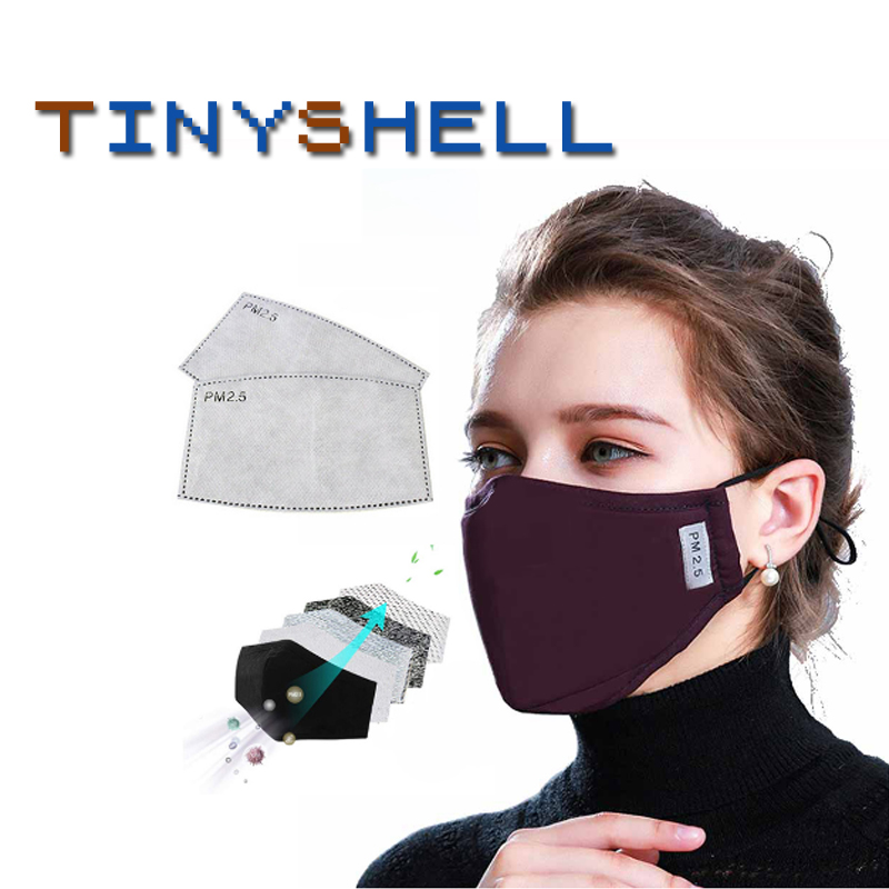 Fashion Unisex Cotton Breath Valve Ffp2 PM2.5 Mouth Mask Anti-Dust Anti Pollution Mask Cloth Activated Carbon Filter Respirator