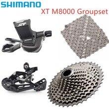 Shimano conjunto de câmbio deore xt m8000, kit de groupset com 11 velocidades, alavanca de câmbio, desviador 40t 42t 46t conjunto de corrente 701 cassete