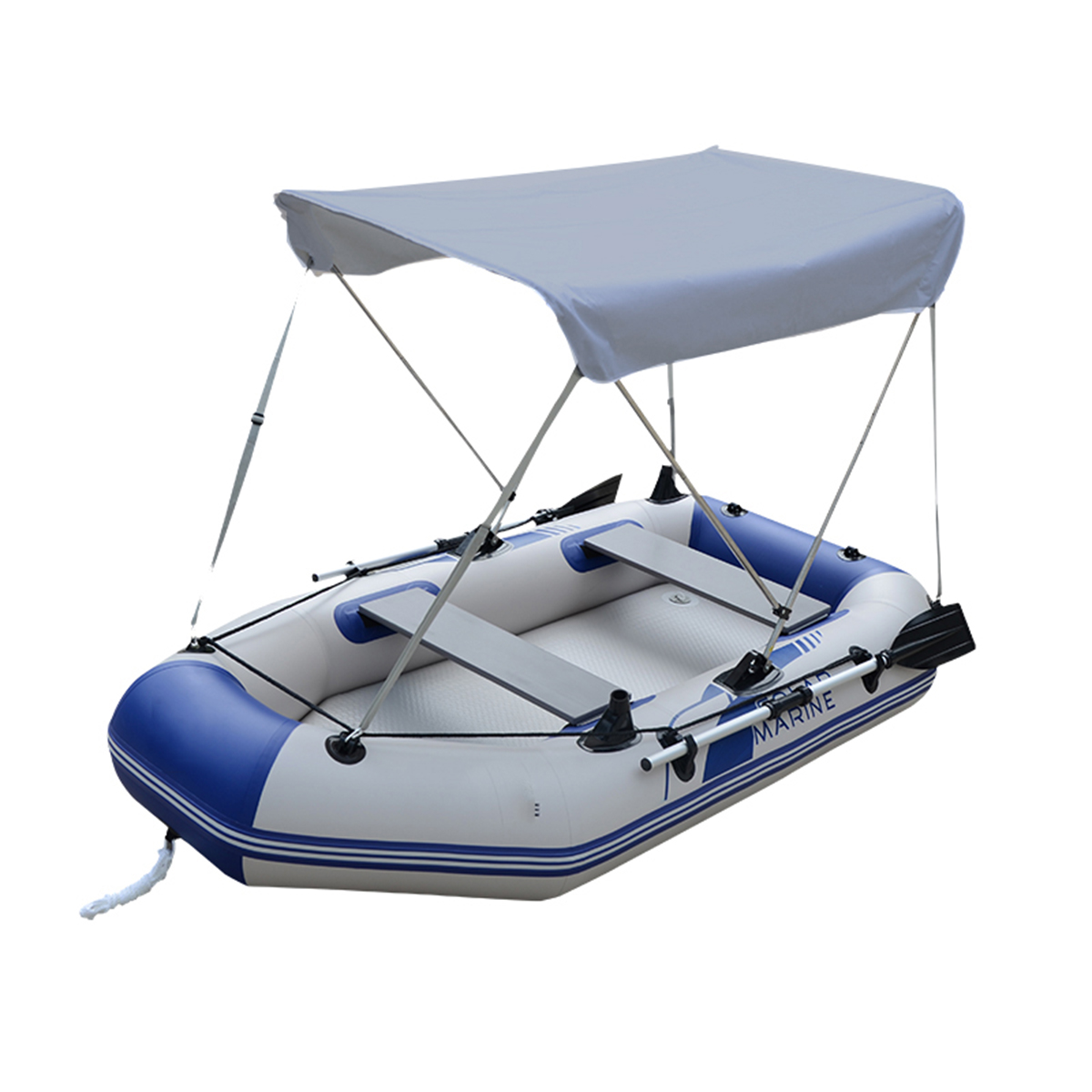 2 Person Sun Shelter For Fish Boat Waterproof Inflatables Boat Sunshade Rowing Boat Tent Top Canopy Rain Cover UV Protect Oxford