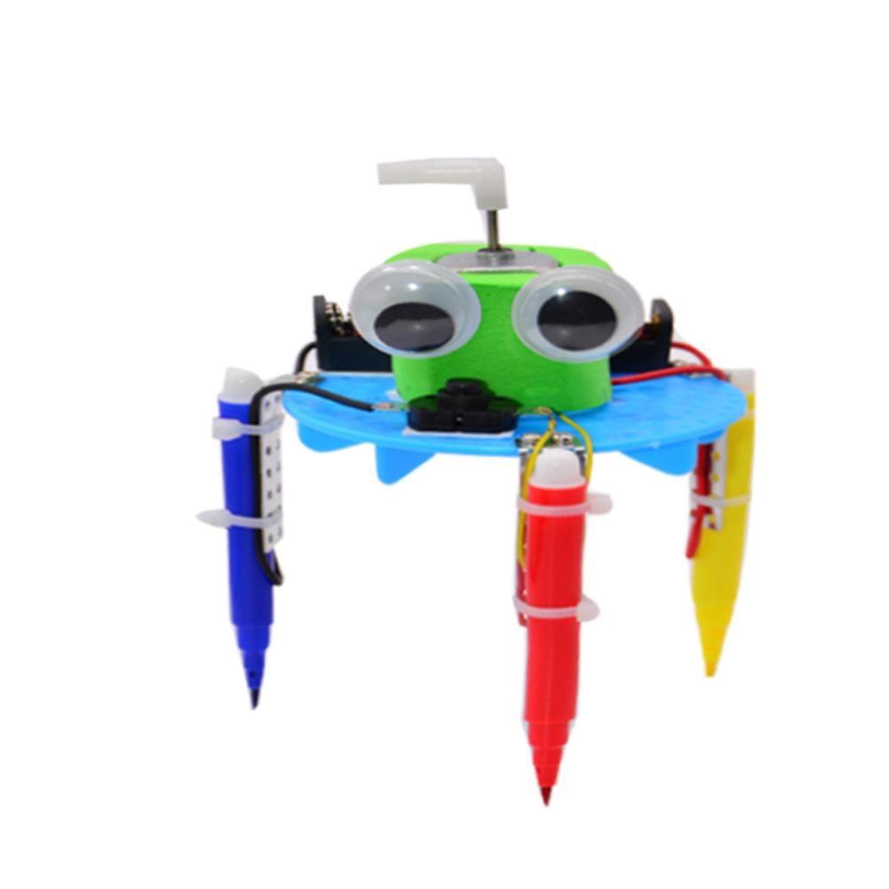 Kids DIY Doodle Robot Toy Children Experiment Science Project Educational Model
