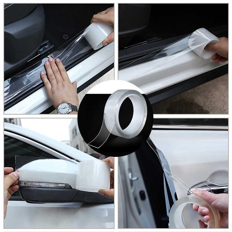 Listwa progowa wielofunkcyjna Nano taśma do naklejania zderzak samochodowy pasek drzwi samochodu chroń odporne na zarysowania akcesoria samochodowe naklejki