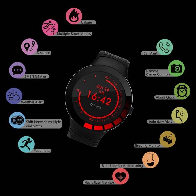 E3 relógio inteligente homem à prova dip68 água ip68 previsão do tempo smartwatch esportes relógio freqüência cardíaca pressão arterial de oxigênio no sangue saúde rastreador 4
