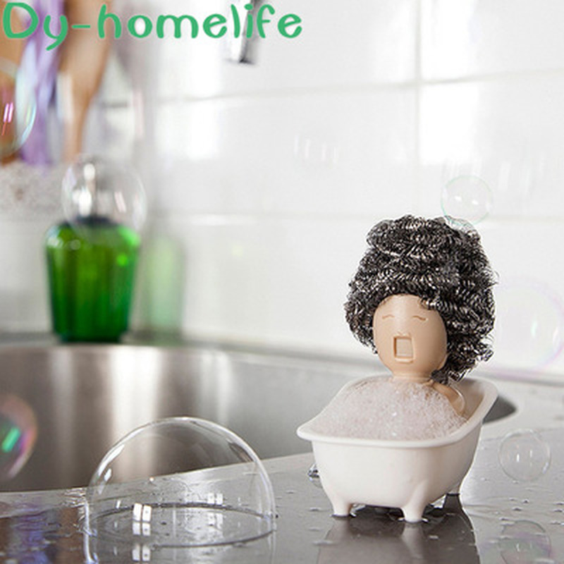 European Creative Cartoon Bathtub Shape ABS Shelf Home Kitchen Supplies Cleaning Ball Baijie Layout Rack