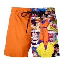 Шорты Z Goku мужские пляжные с 3D-принтом, Свободные Повседневные Удобные, для бега, пляжа, отпуска, объемный рисунок, летние