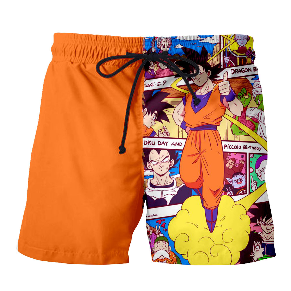 Dragon Ball Z Goku 3D Men Swim Trunks Men's Shorts Summer Island Vacation Beach Shorts Men Baggy And Casual Running Sport Shorts