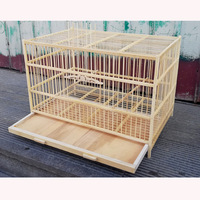 Super Large Bamboo Bird Cock Cage 50cm Handmade Breathable Bird Nest Traditional Chinese Folk Crafts Pet Product Bird House