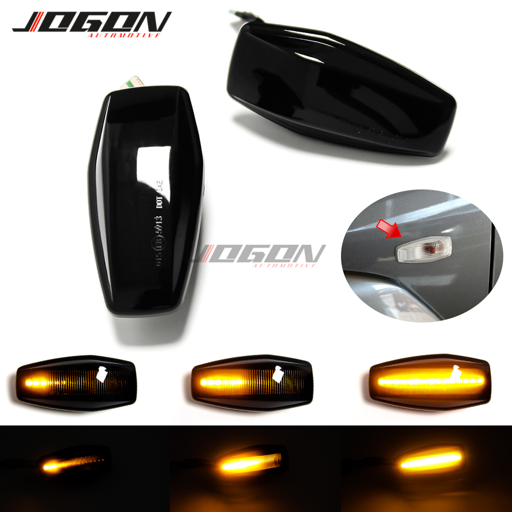 For <font><b>Hyundai</b></font> Elantra <font><b>i10</b></font> Getz Sonata XG Tucson Terracan Coupe Car Turn Signal Light LED Side Marker Sequential Blinker Lamp image