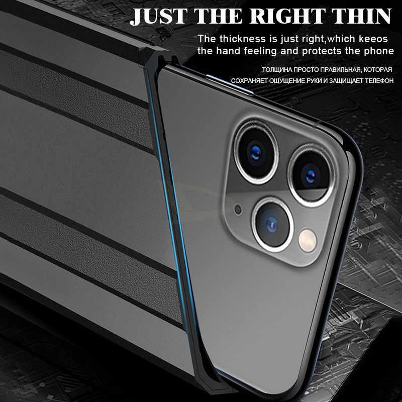 Di lusso Armatura Caso Antiurto Per Il IPhone 11 Pro XR X XS Max Per Il IPhone SE 2020 8 7 6 6s PLus Cassa Del Respingente Del Silicone Della Copertura