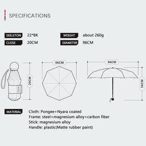 Image 5 - OLYCAT جيب صغير مظلة واقية من الشمس المضادة للأشعة فوق البنفسجية خمسة مظلات قابلة للطي المطر المرأة ظلة العلامة التجارية واقية من الشمس المظلة الزجاج الألياف باراغواي