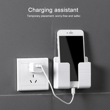 Storage-Box Charging-Organizer Wall-Holder Phone-Plug Multifunction-Stand-Rack Remote-Control