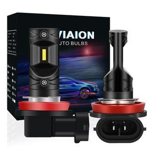 2x H8 H11 противотуманный светильник светодиодный Лампа 9005 9006 H1 H3 H10 PSX24W H16 H27 880 881 автомобильный DRL светильник 1200LM противотуманная фара для Honda ...
