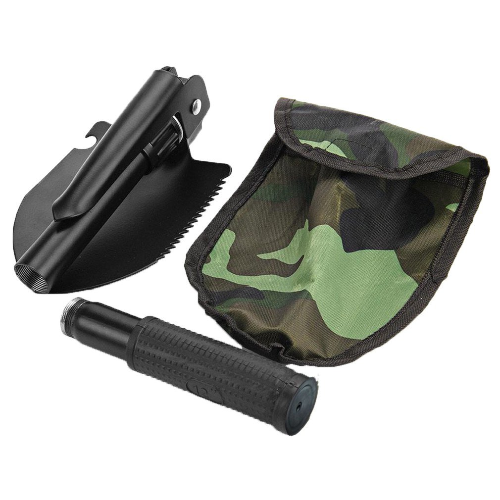 HOt Garden Tools Mini-Military Portable Folding Shovel Survival Spade Emergency Trowel For Outdoor Camping Tooldiscount Dropship