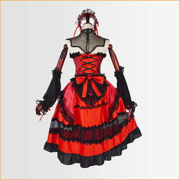 New Anime Date A Bullet Tokisaki Kurumi Cosplay Costume Outfit Fancy Dress Carnival Halloween Party Costumes for Women S-XL 2