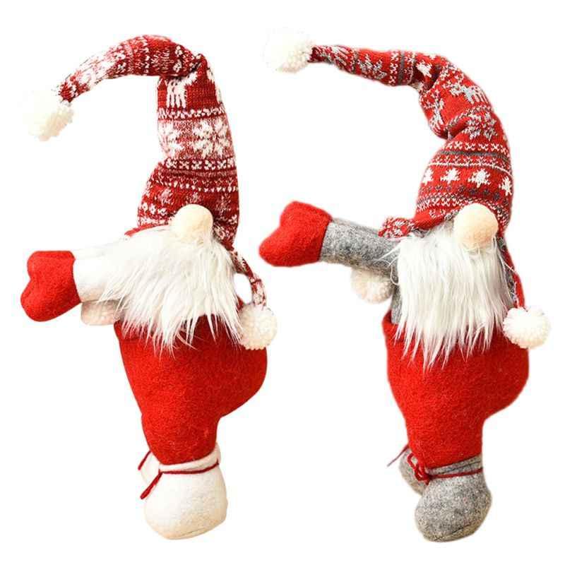 Christmas Window Curtain Santa Doll Buckle Holder Xmas Festival Home Decoration