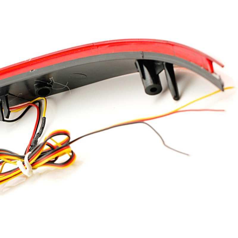 2 Pcs untuk Kia K3 Cerato Forte 2012 2013 2014 Mobil Merah Len LED Bumper Belakang Reflektor LED Berhenti Rem lampu Ekor Kabut Lampu Parkir