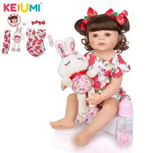 KEIUMI Hot Sale 22 ''전체 실리콘 Reborn Menina Boneca 현실적인 공주 패션 인형 Reborn Baby 55 cm Toy for Kids Playmates(China)