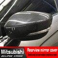 ABS углеродное волокно автомобильные аксессуары для Mitsubishi Eclipse cross зеркало заднего вида декоративная рамка