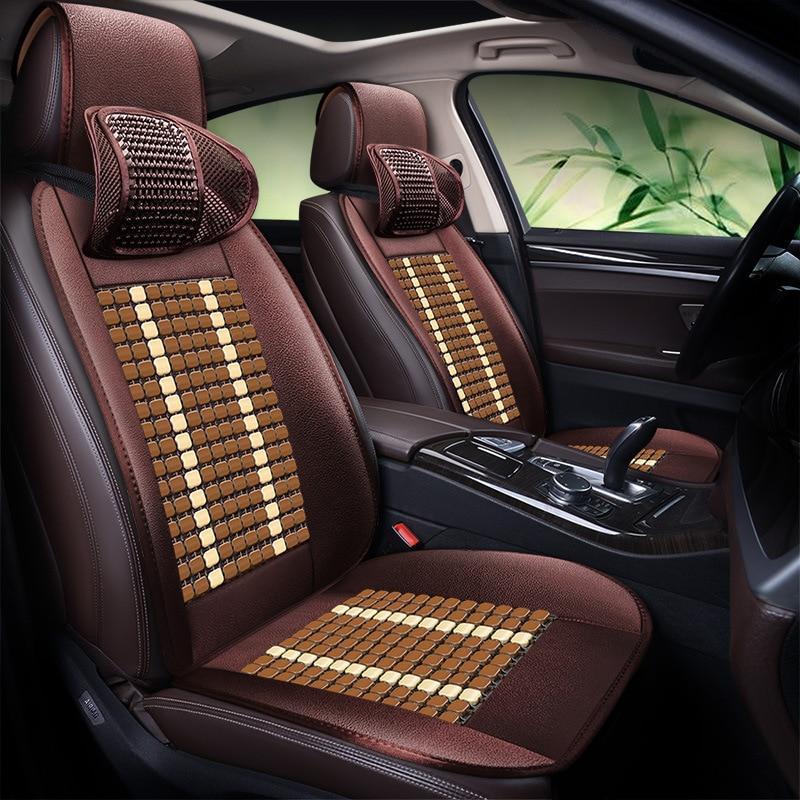 Bamboo Automobile Seat Cushion Summer Cool Pad Breathable Seat Cover C TREK Blue LED Rui Cheng CC Tiida Logo 408CX 3 - 2