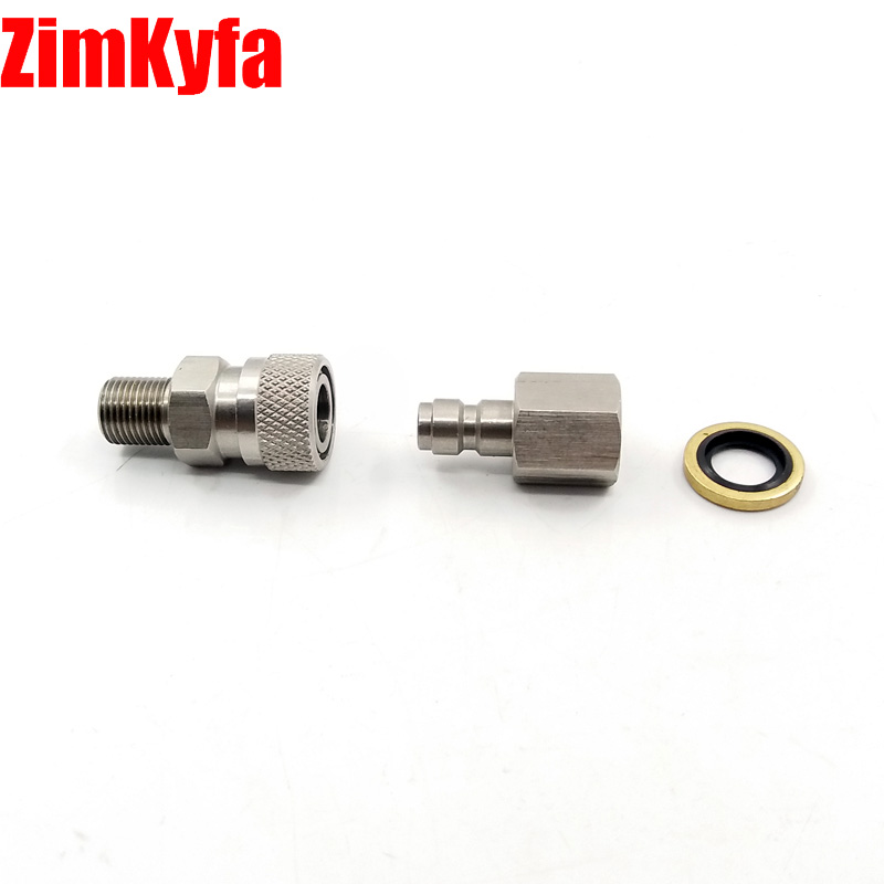Купить с кэшбэком Paintball PCP Air Gun Rifle Stainless 8mm Quick Release Disconnect Coupler Kit 1/8 BSPP for Air Filling Charging