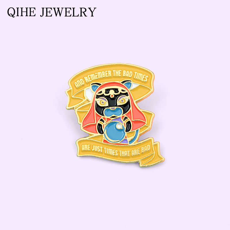 Cadı kedi kristal top emaye Pin kötü kez teklif yaratıcı rozeti yaka Pin toka moda takı hediye kadın erkek broş