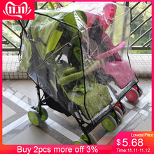 Двойной аксессуар для детской коляски, детская коляска с защитой от дождя, водонепроницаемый чехол для детской коляски#30