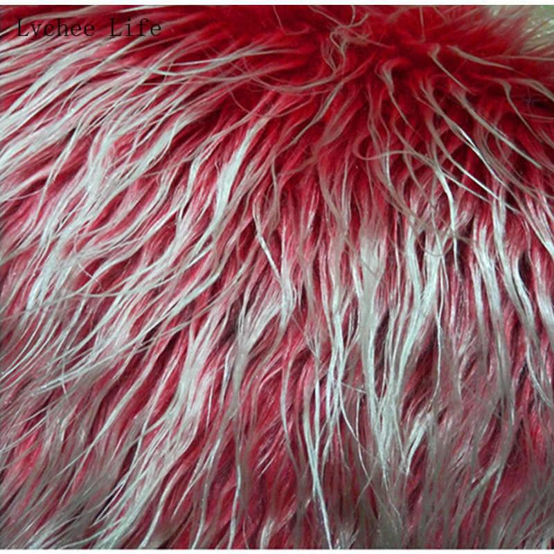 Lychee yaşam 20x3 0/50x80cm taklit kürk yumuşak peluş giyim kumaş dikiş ev odası kanepe dekor DIY dikiş el sanatları