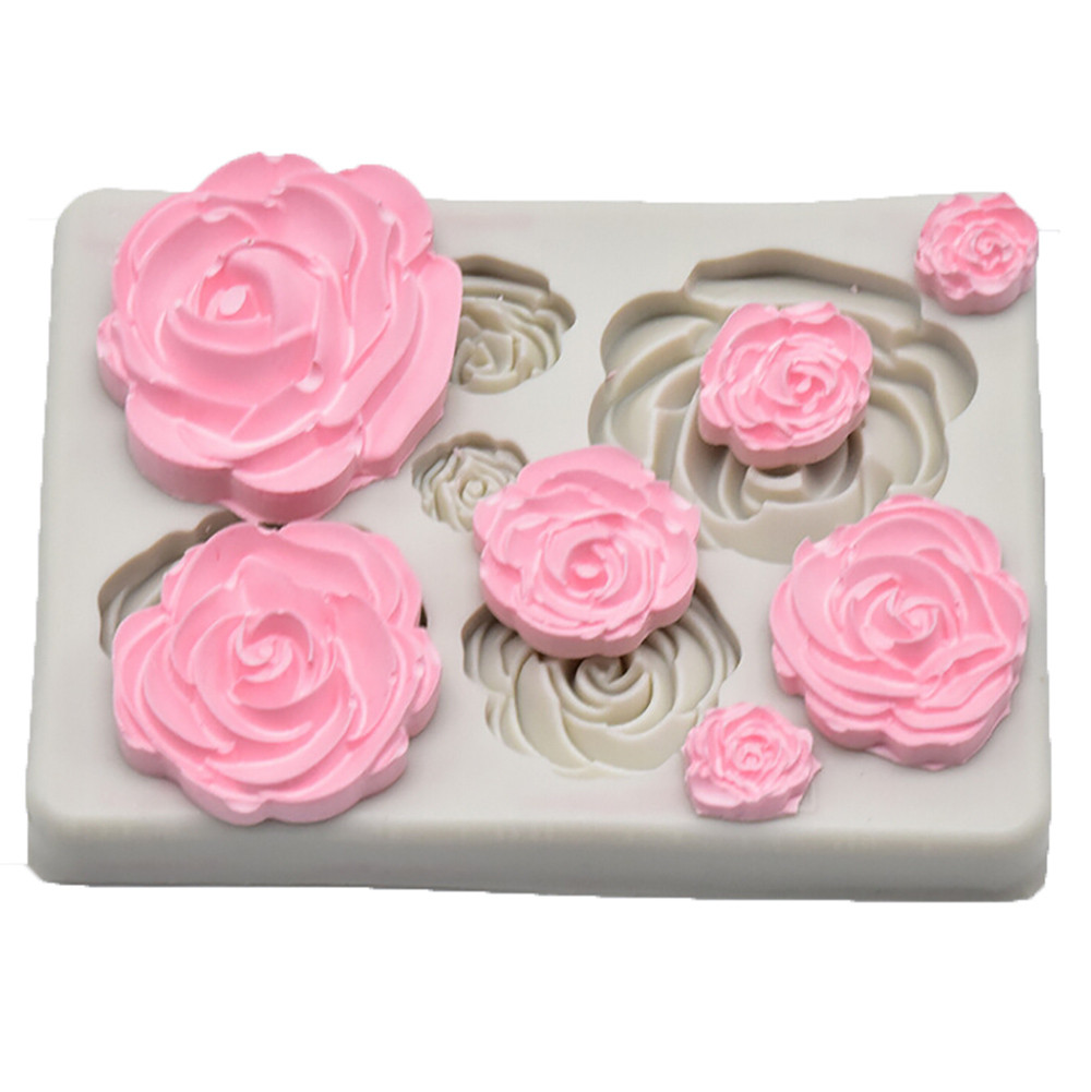 Sugarcraft Rose Flower Silicone Mold <font><b>Fondant</b></font> Mold <font><b>Cake</b></font> <font><b>Decorating</b></font> <font><b>Tools</b></font> Chocolate Confeitaria Mold Baking <font><b>Accessories</b></font> #15 image