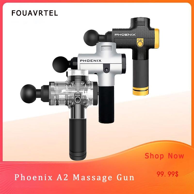 Phoenix A2 Deep Muscle Massage Gun Therapy Body Massager Electronic Muscle Massage Device Thrapgy Body Massage and Relaxaion Gun Бутылка