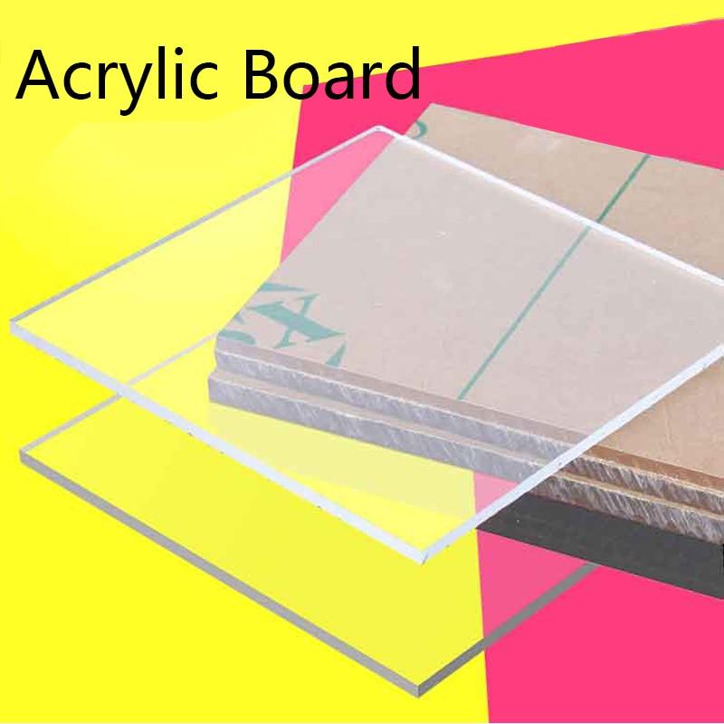Clear Acrylic Board Perspex Sheet PMMA High Transparent Diy Handmade Material Plastic Board Laser Processing 200*200mm