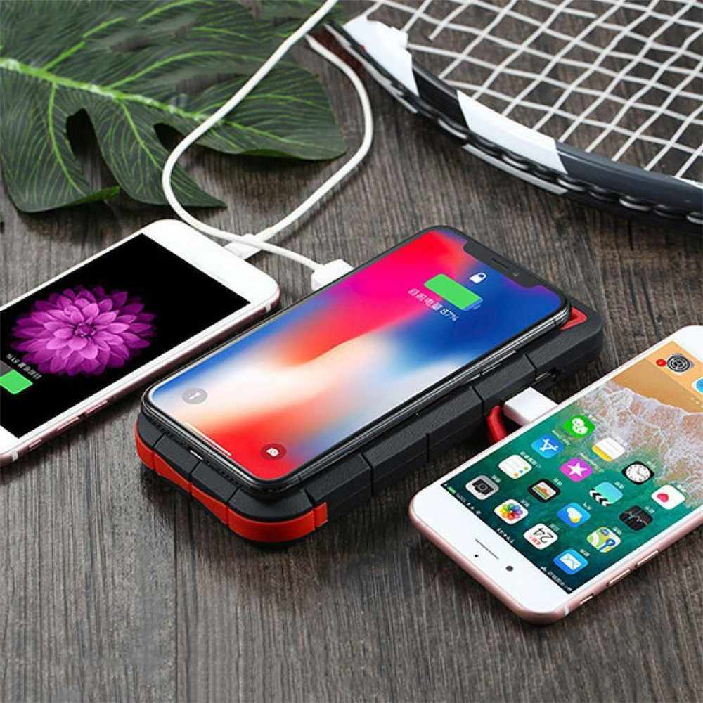 Fast Charging DIY Power Bank Case Multifunctional LED Display Wireless Solar Holder Power Bank Case For iPhone Huawei Xiaomi Pakistan
