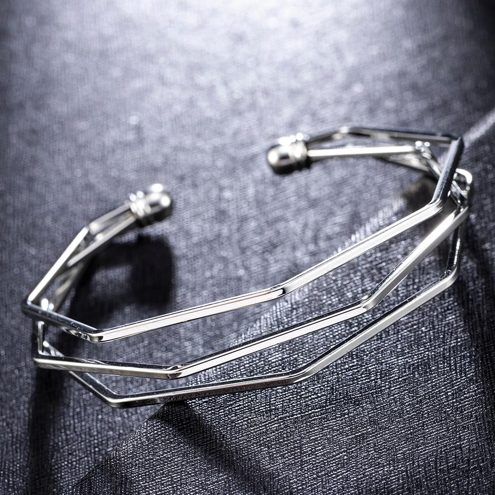 NEW Bracelet Gold Metal Alloy Arrow Link Chain Twist Bangle New Three Layer Romantic Open Cuff Bangles Bracelet Set For Women
