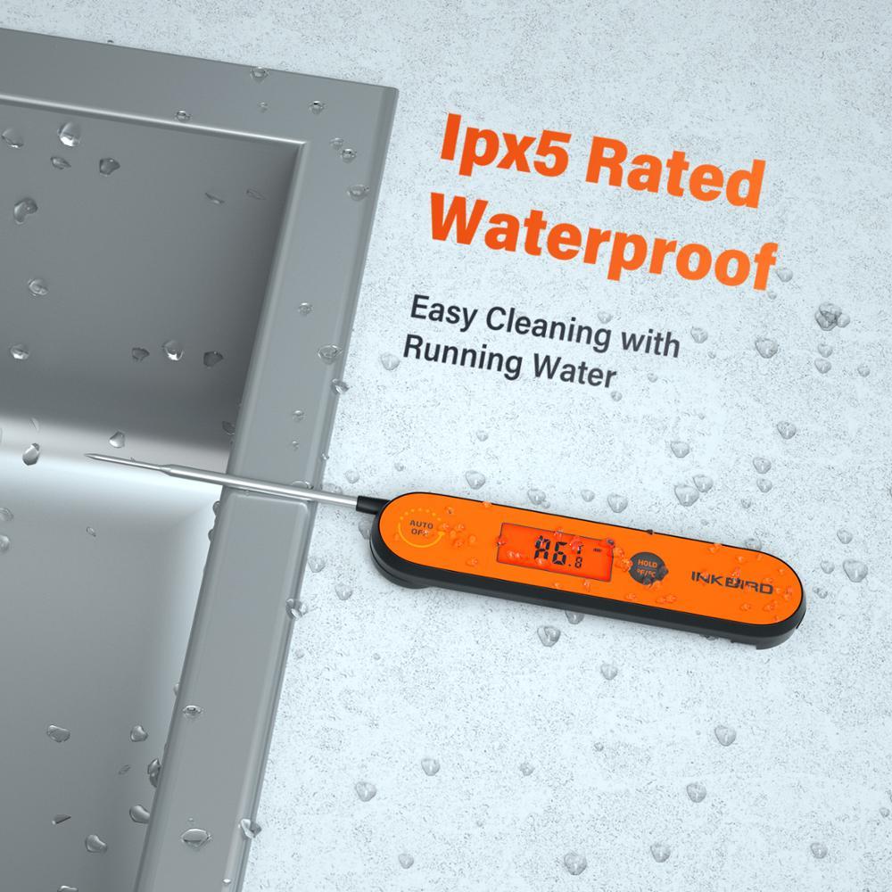 Image 5 - Inkbird デジタルインスタント読む肉温度計、 IHT 1P 防水充電式温度計バックライト