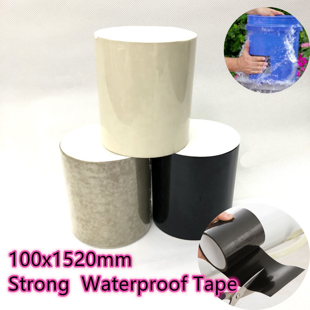 10x152cm Strong Fiber Waterproof Tape Stop Leaks Seal Repair Tape Performance Self Fix Tape Adhesive Tape For Water Pipe Bucket