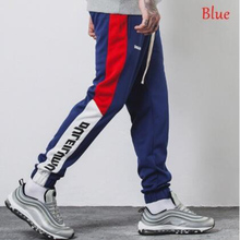 2018 Men Pants Full Length Side Stripe Printed Trousers Mens Joggers Sportswear Fitness Gym Pants Male Vintage Sweatpants LEMOV недорого