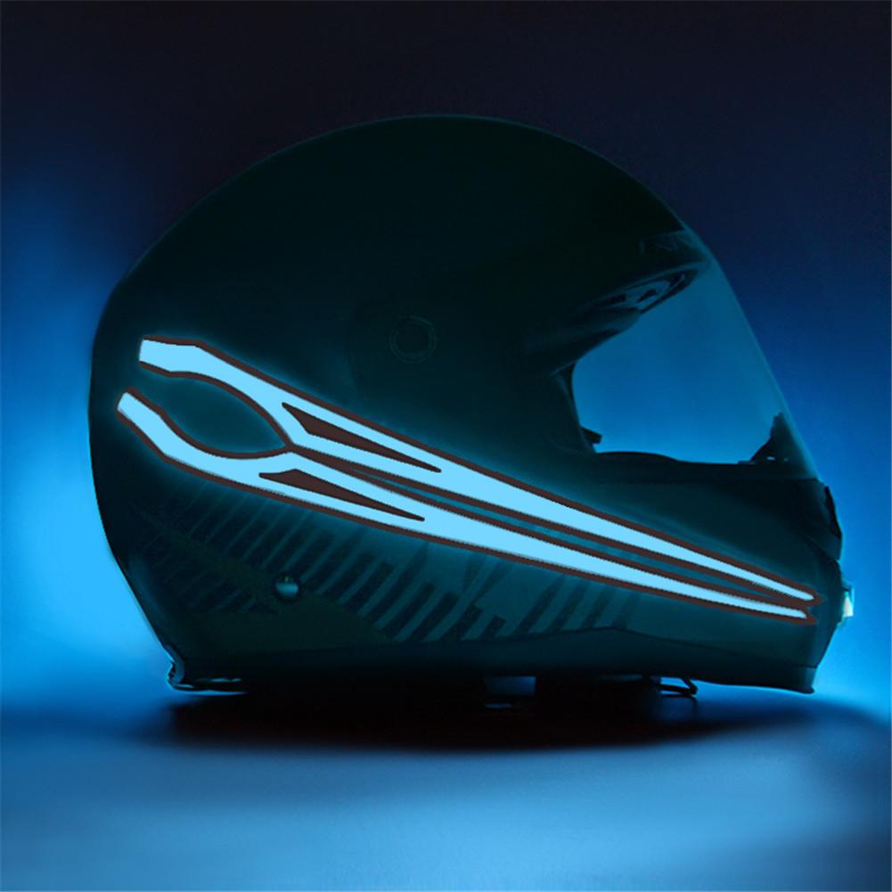 Motorcycle Helmet Light Strip Waterproof LED EL Cold Light Night Driving Signal Luminous Modified Light Helmet Sticker