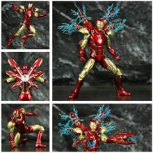 Marvel Avenger 4 Endgame Iron Man MK85 7 figurka Ironman Mark 85 Nano broni Tony Stark legendy ZD zabawki model lalki tanie tanio JAXTOY Puppets Żołnierz gotowy produkt Wyroby gotowe Unisex 18 cm 7inch 1 12 Zachodnia animiation Zapas rzeczy