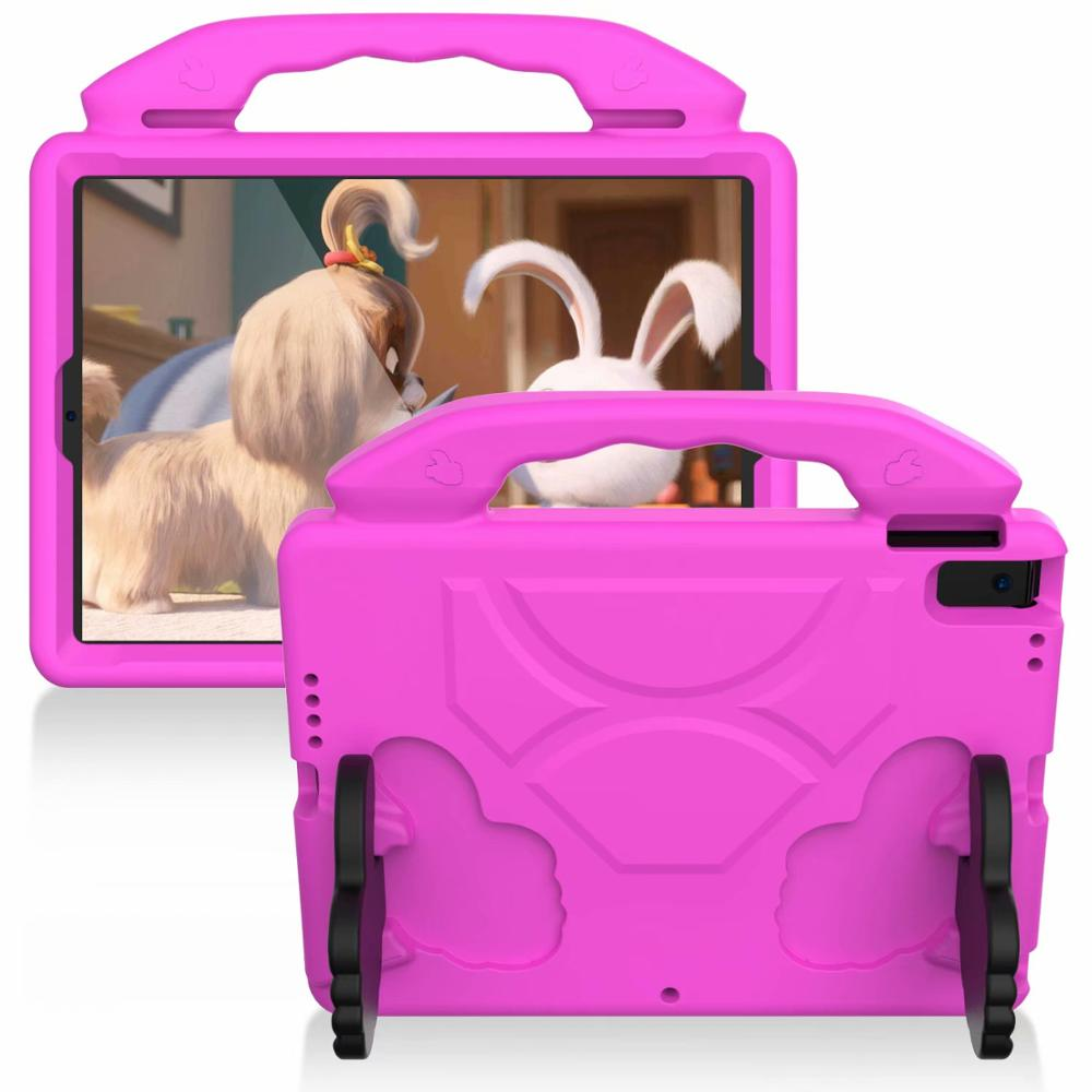 Rose red Pink Thumb Kids Friendly Safety Cover For iPad 10 2 2019 7th Generation A2200 A2198 A2232 Case
