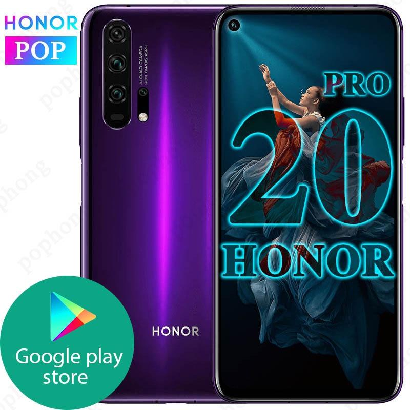 Original HONOR 20 Pro Smartphone 6.26'' 8GB 128GB Octa Core 4000mAh 32MP Camera Android 9.0 Support NFC Google Play GPU Turbo3.0