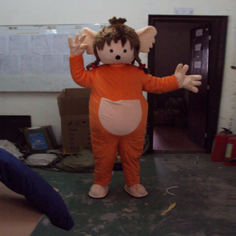Boy and girl cartoon character mascot costume costume ball mascot in Mascot from Novelty Special Use