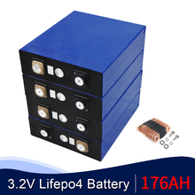 8PCS 176ah Lifepo4 Battery 24V180AH  Lithium Cell Phosphate solar Battery Pack DIY Lifepo4 Battery Not 3.2V 200AH EU US TAX FREE