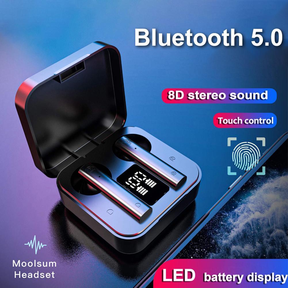 Air2S TWS Bluetooth 5.0 Wireless Earphone Digital Display HiFi In-Ear Sports Earbuds Headphones Wireless Bluetooth Earphones
