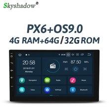 PX6 DSP Android 9,0 4 Гб ОЗУ 32 Гб ПЗУ 6 ядерный Автомобильный мультимедийный плеер 2 Din для универсального RDS радио gps карта Bluetooth wifi OBD tv