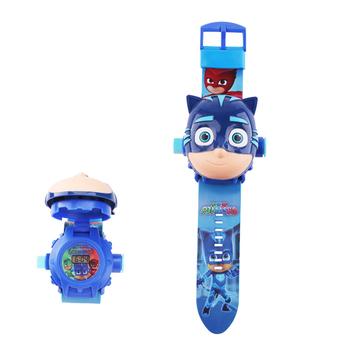 PJ maski zestaw zabawek zegarek projekcyjny figurka pj maski urodziny anime rysunek maski pj zabawka prezent tanie i dobre opinie PJ Masks Certyfikat Perceptivity rozwoju (kolor kształt dźwięk vision) Balance Bike Unisex Zwierząt 3 lat Piłka nożna