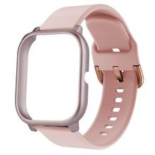Silicone band +Case For Huami Amazfit bip /GTS Strap Replacement Smart Watch Soft TPU Protective Cover Full coverage